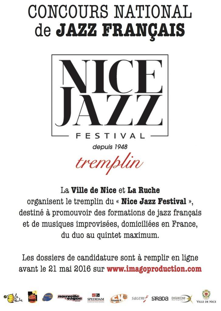 concours national de jazz fran u00c7ais  u2013 tremplin du nice jazz festival 2016
